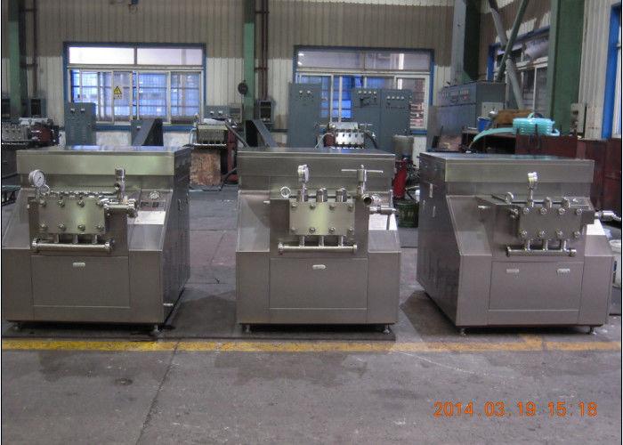 Food and drink 2 stage milk homogenizer machine 2500 l h for Food bar press machine